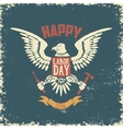 Happy labor day poster template Eagle on grunge vector image vector image