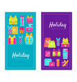 holiday shopping presents promotion advertising vector image vector image