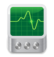 Icon for oscilloscope vector image vector image