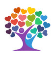 iconic for love tree vector image