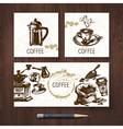 identity set of coffee banners vector image vector image
