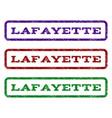 lafayette watermark stamp vector image vector image