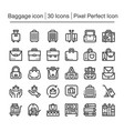 luggage icon vector image vector image