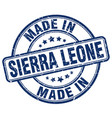 made in sierra leone vector image vector image