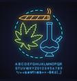 marijuana culture neon light concept icon vector image vector image