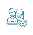 married couple linear icon concept married couple vector image