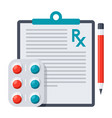 medical prescription icon vector image vector image