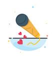 mic hearts love loving wedding business logo vector image