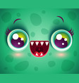 monster for halloween mask vector image vector image