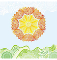 Nature pattern background beautiful sun vector image vector image