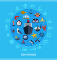 nautical concept vector image vector image