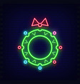 Neon christmas wreath