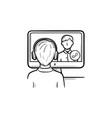online education hand drawn sketch icon vector image vector image