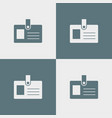 pass icon simple vector image vector image