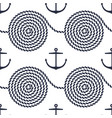 pattern with rope spirals and anchors vector image vector image