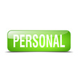personal green square 3d realistic isolated web vector image