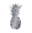 pineapple black and white abstract pineapple vector image vector image