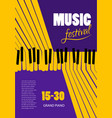 poster music festival concept template vector image