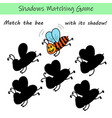 preschool simple and fun shadow matching game vector image vector image