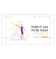 professional industrial deep cleaning company vector image