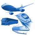 ransportation blue icons vector image