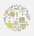 real estate circular vector image vector image