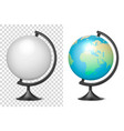realistic 3d globe of planet earth blank vector image