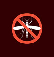 repellent mosquito stop sign icon malaria pest vector image vector image