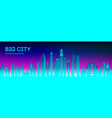 retro wave background80s city80s future retro vector image vector image