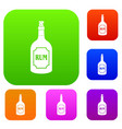 rum set color collection vector image vector image