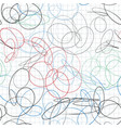 seamless pattern of scribble in notebook sheet in vector image