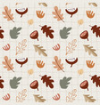 seamless pattern with various colorful fall leaves vector image vector image
