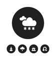 set of 5 editable air icons includes symbols such vector image vector image