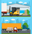 set of cargo services and storage vector image vector image