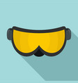 ski glasses icon flat style vector image vector image