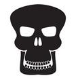 skull sign black icon vector image