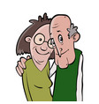 smiling senior couple vector image