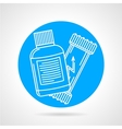 Sport supplements round icon vector image vector image