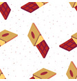 sweet seamless pattern with chocolate bars on a vector image