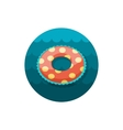 Swimming circle on water icon Summer Vacation vector image vector image