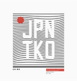 tokyo japan typography for t-shirt vector image vector image