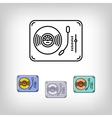 Turntable isolated line art icon Modern vector image vector image
