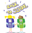 two students go back to school vector image