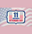 vintage poster for veterans day vector image vector image