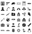 world antiterrorism icons set simple style vector image vector image