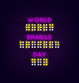 world braille day poster vector image
