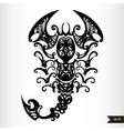 Zodiac signs black and white - Scorpio vector image