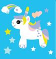 cute unicorn baby print vector image