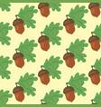 oak leaf and acorn seamless pattern vector image