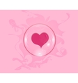 heart soap bubble with reflections colored vector image
